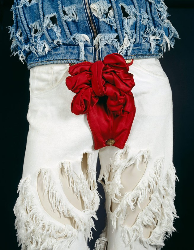 Vivienne Westwood, London (fashion house). 'Outfit' (detail) 1991 spring-summer 1991 'Cut and Slash' collection