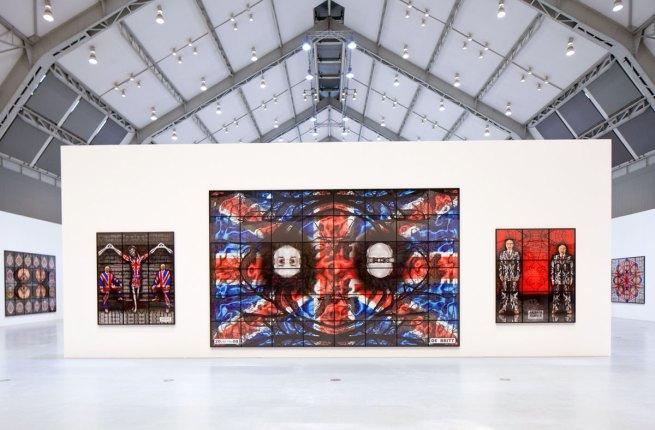 Installation view of 'Jack Freak Pictures' by Gilbert & George at Deichtorhallen Hamburg
