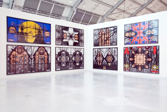Installation view of 'Jack Freak Pictures' by Gilbert & George at Deichtorhallen Hamburg