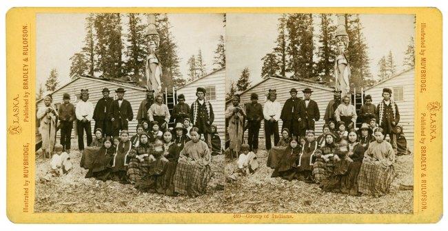 Eadweard Muybridge. Group of Indians (489), 1868