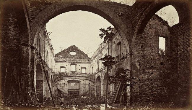 Eadweard Muybridge. 'Ruins of the Church of San Domingo, Panama' 1875