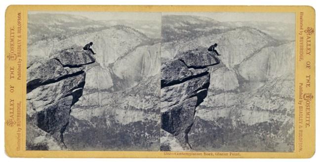Eadweard Muybridge. Contemplation Rock, Glacier Point (1385), 1872