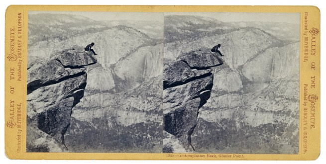 Eadweard Muybridge. Contemplation Rock, Glacier Point (1385), 1872