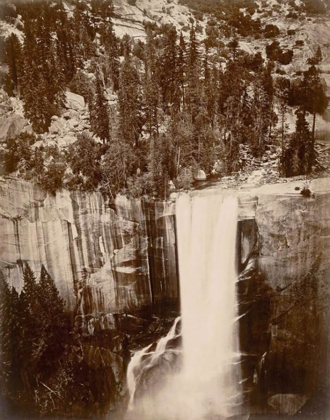 "Eadweard Muybridge. Pi-Wi-Ack. Valley of the Yosemite. (Shower of Stars) ""Vernal Fall."" 400 Feet Fall. No. 29, 1872"