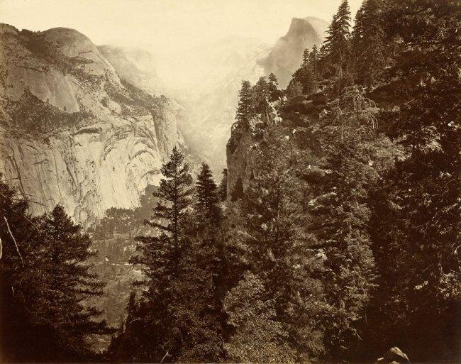 Eadweard Muybridge. 'Tenaya Canyon. Valley of the Yosemite. From Union Point. No. 35,'1872