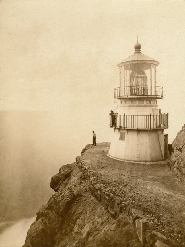 Eadweard Muybridge. 'First-Order Lighthouse at Punta de los Reyes, Seacoast of California, 296 Feet Above Sea (4136)' 1871