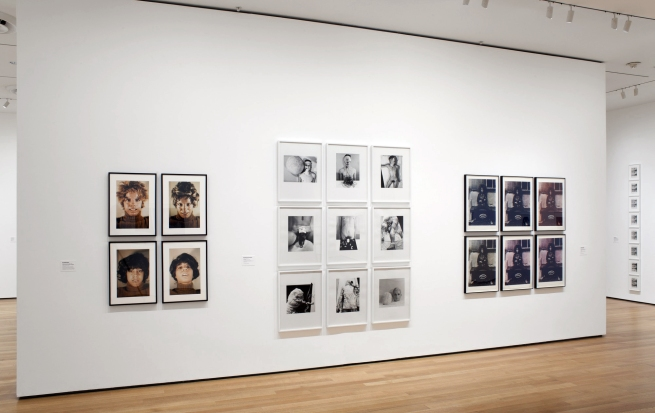 Installation view of the exhibition 'Staging Action: Performance in Photography Since 1960' at The Museum of Modern Art (MoMA)