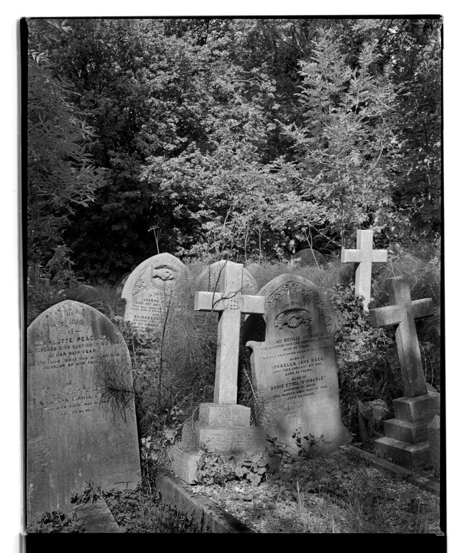 Marcus Bunyan. 'Three crosses four graves, Highgate Cemetery' 1993