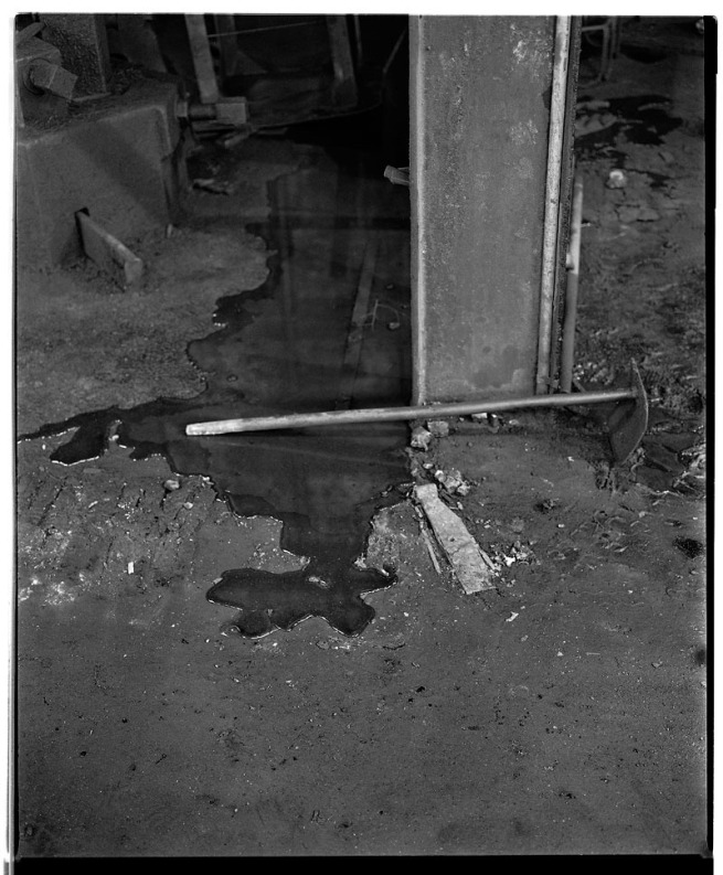 Marcus Bunyan. 'Hoe with Surging Rainwater' from the 'At Newport' series, 1991