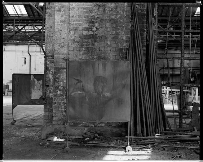 Marcus Bunyan. 'Screened figure' from the 'At Newport' series, 1991