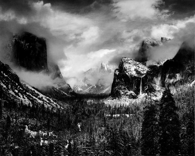 Ansel Adams. 'Winter Storm' 1942