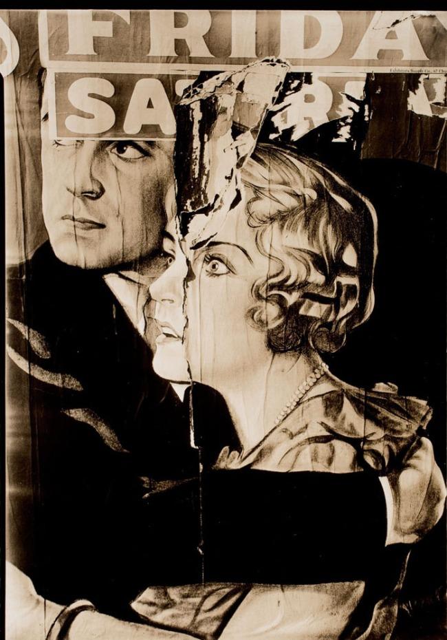 Walker Evans. 'Torn Poster, Truro, Massachusetts' 1930