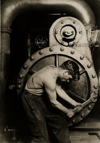 Lewis Hine [Powerhouse mechanic] 1920 catalogue size