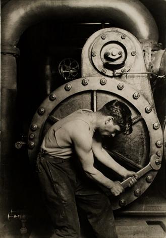 Lewis Hine [Powerhouse mechanic] 1920 catalogue size