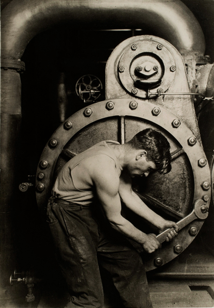 Lewis Hine. [Powerhouse mechanic] 1920 catalogue size