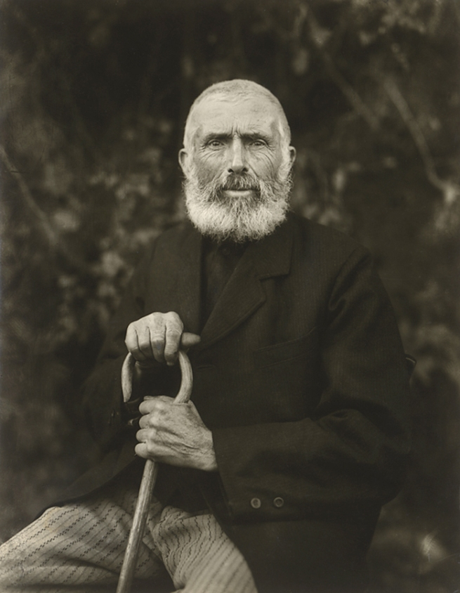 August Sander(German, 1876-1964) [Farmer, Westerwald (Bauer, Westerwald)] 1910