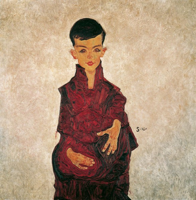 Egon Schiele (Austria 1890-1918) 'Portrait of a boy (Portrait of Herbert Rainer aged approximately six)' 1910