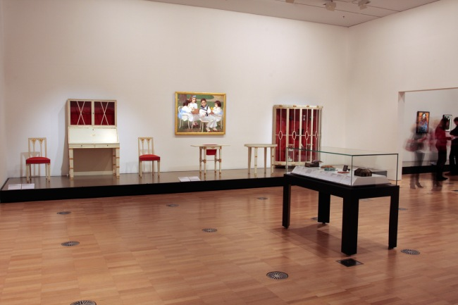 Installation view of room seven of the exhibition 'Vienna - Art & Design' at the National Gallery of Victoria