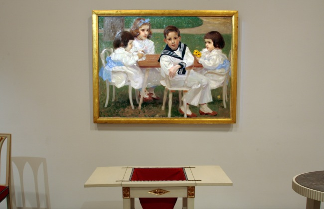 Ferdinand Andri(Austrian, 1871-1956) 'The Gallia children' 1901