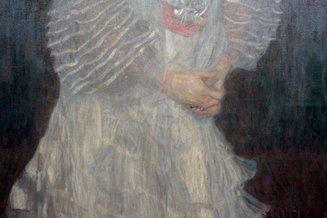 Gustave Klimt(Austrian, 1862-1918) 'Portrait of Hermine Gallia' (detail) 1904