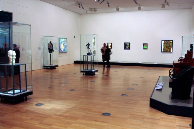 Installation view of room eight of the exhibition 'Vienna - Art & Design' at the National Gallery of Victoria