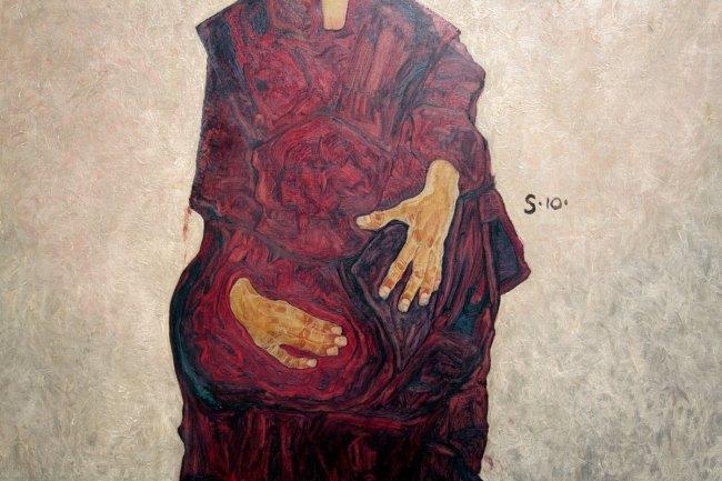 Egon Schiele (Austria 1890-1918) 'Portrait of a boy (Portrait of Herbert Rainer aged approximately six)' 1910