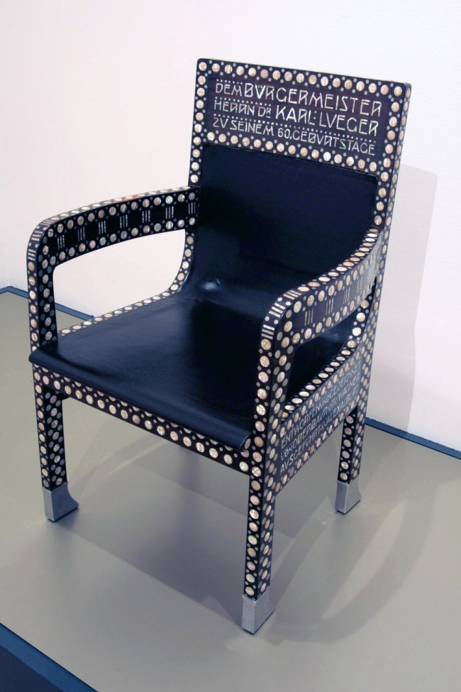 Otto Wagner (designer) Austria 1841–1918 Alexander Albert (manufacturer) Austria active c. 1904 'Chair for Dr Karl Lueger' 1904