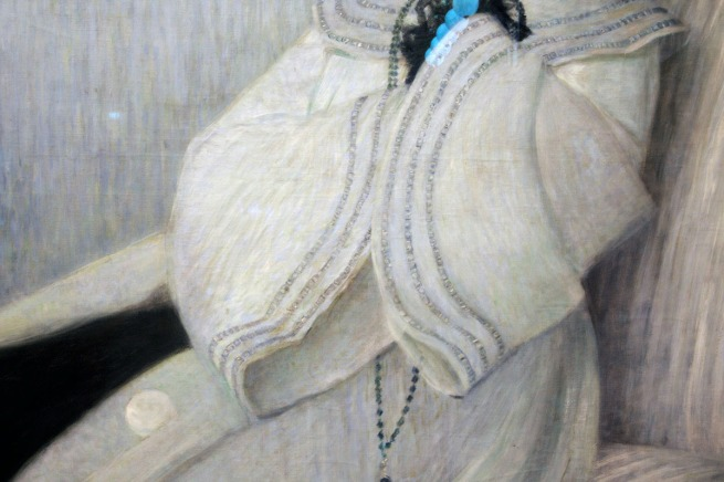 Wilhelm Otto List. 'Young lady in black and white' 1904 (detail)
