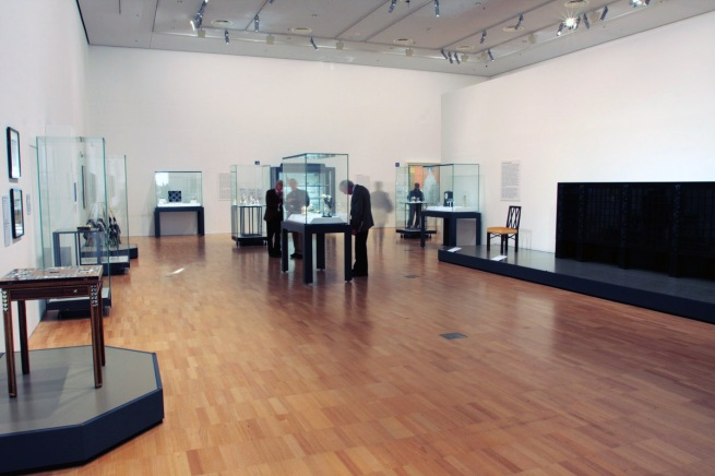 Installation view of room six of the exhibition 'Vienna - Art & Design' at the National Gallery of Victoria
