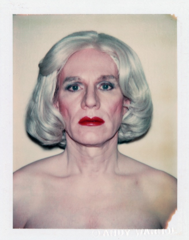Andy Warhol. 'Self-Portrait in Drag (Platinum Pageboy Wig)' 1981