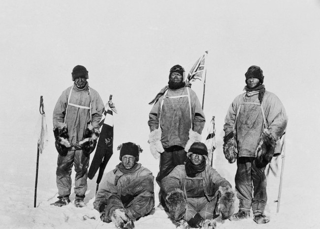 Scott and the Polar Party at the South Pole