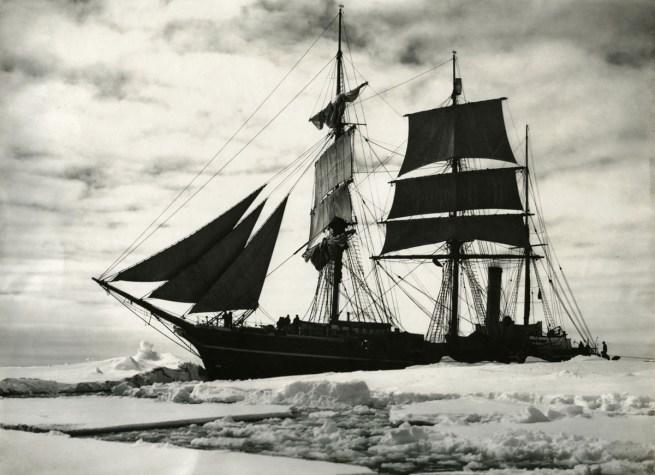 Herbert Ponting(British, 1870-1935) 'The former whaling ship, the 'Terra Nova'' 1911