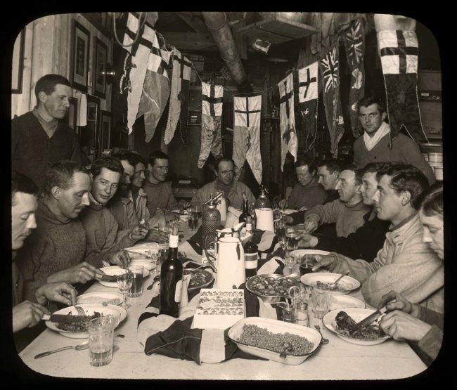Herbert Ponting(British, 1870-1935) 'Scott's birthday dinner, June 1911'