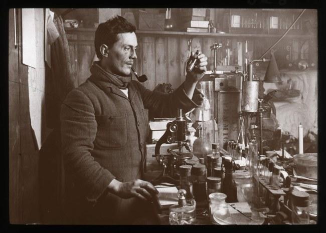 Herbert Ponting(British, 1870-1935) 'Edward Atkinson in the laboratory' 1911