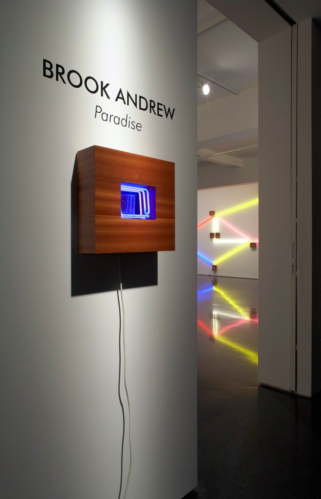 Brook Andrew 'Paradise' installation at Tolarno Galleries, Melbourne