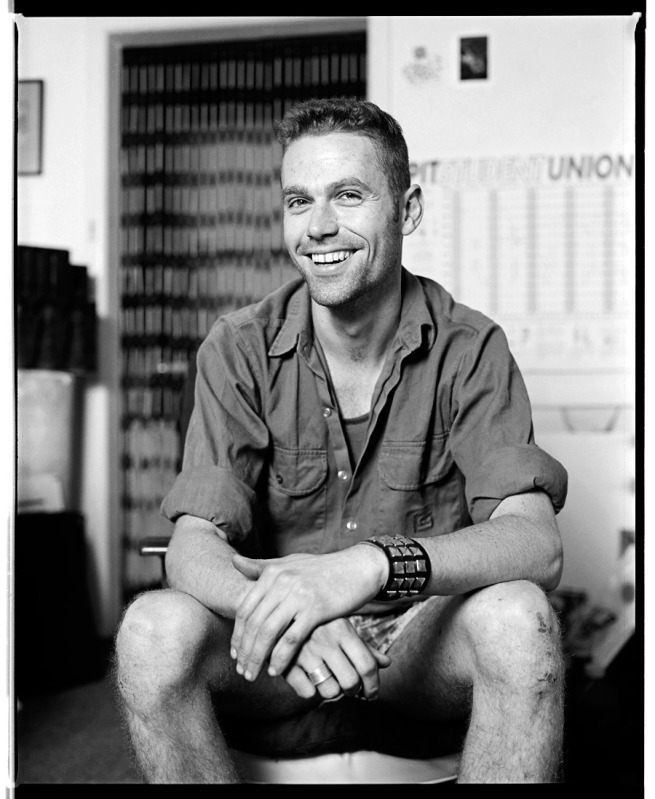 Marcus Bunyan. 'Fred smiling in the flat, Punt Road, South Yarra' 1991/2