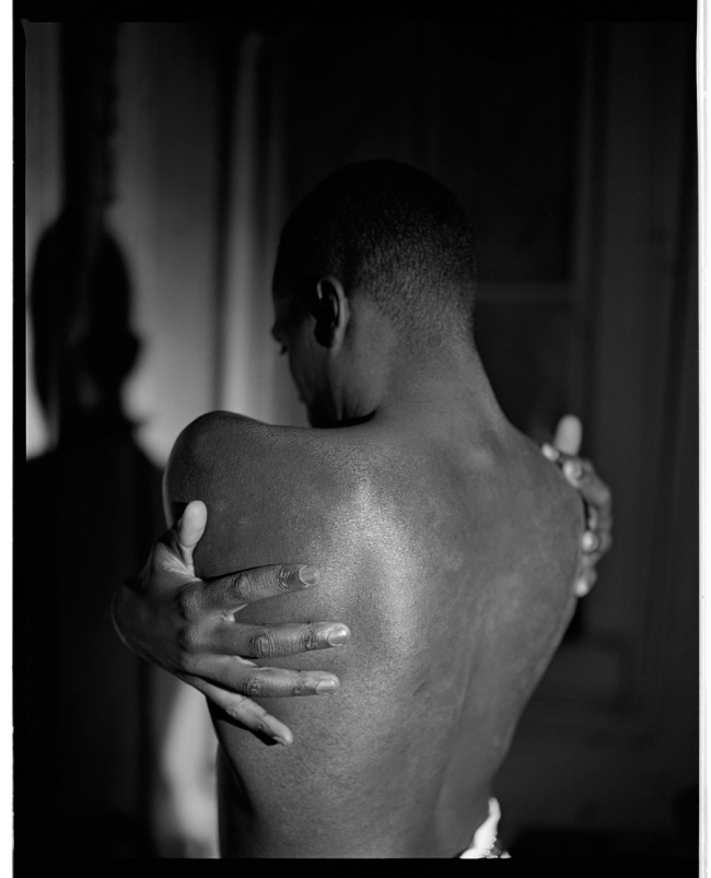 Marcus Bunyan. 'Untitled (Lawrence clasping his arms to his back)' 1991/2