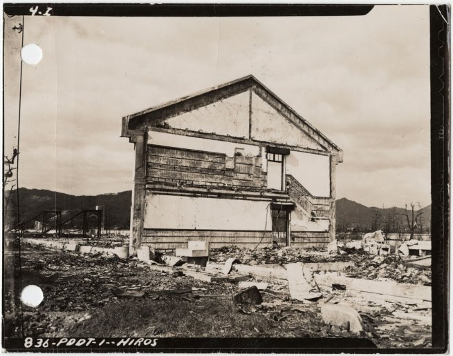 United States Strategic Bombing Survey, Physical Damage Division. '[Remains of a school building]' November 17, 1945