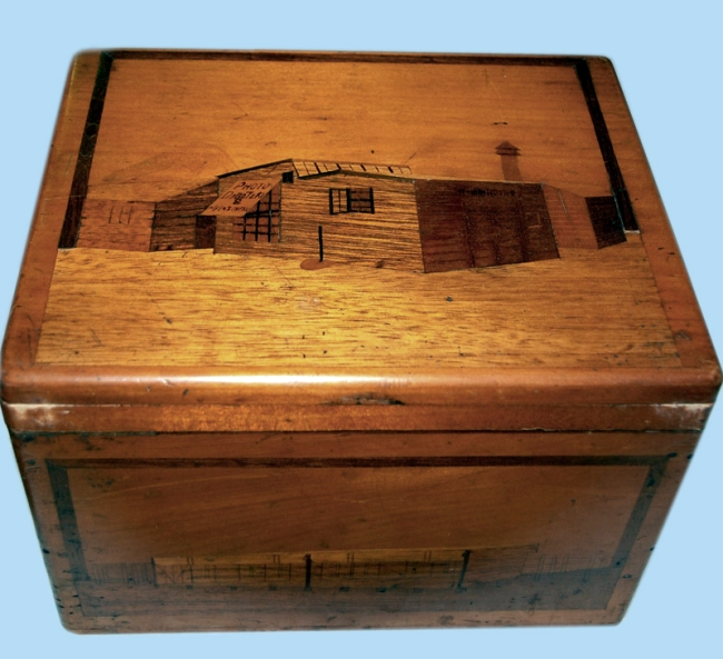 'Wooden box containing glass plates' c. 1915 - 1918
