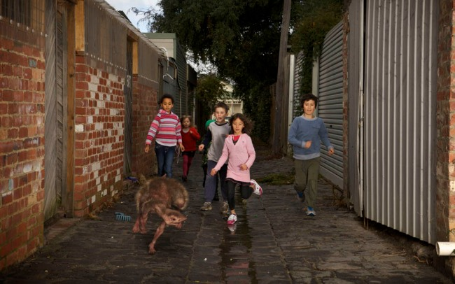 Patricia Piccinini. 'Alley, 11.15am' 2011