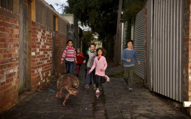 Patricia Piccinini. 'Alley, 11.15am' 2011