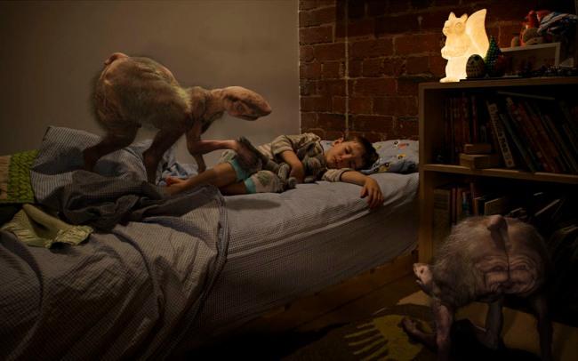 Patricia Piccinini. 'Bedroom, 10.30pm' 2011