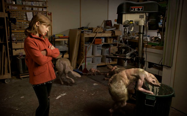 Patricia Piccinini. 'Workshop, 7.00pm' 2011