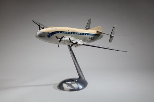 La Maquette d'Etude et d'Exposition à Aubervilliers, France. 'Air France Breguet 763 Provence' 1950s