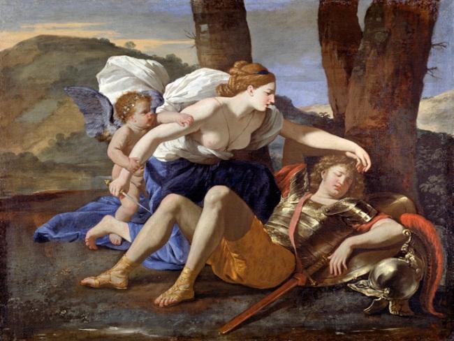 Nicolas Poussin. 'Rinaldo and Armida' c. 1630