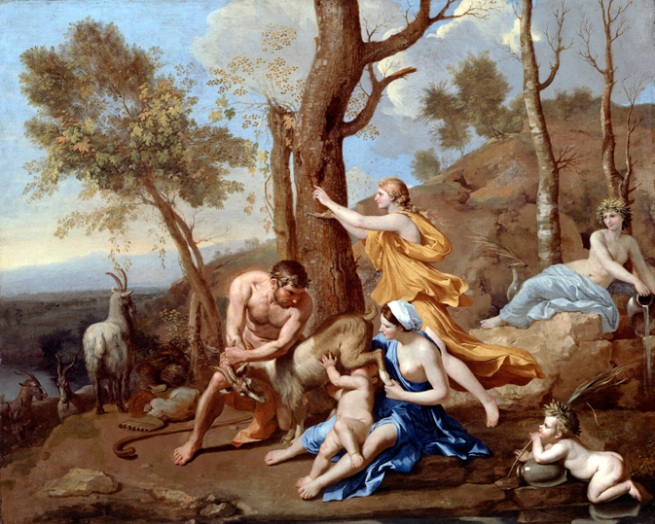 Nicolas Poussin. 'The Nurture of Jupiter' mid 1630s