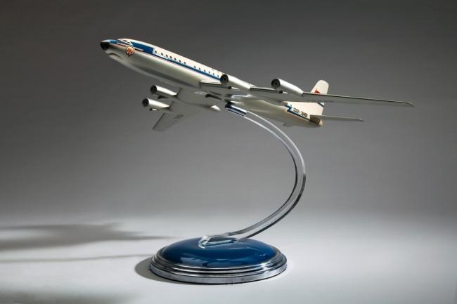 U.S.S.R. 'Aeroflot Tupolev Tu-114 Rossiya' early 1960s
