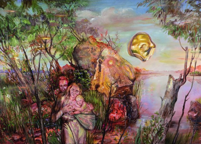Juan Davila(Chilean b. 1946, emigrated Australia 1974) 'A Man is Born Without Fear' 2010