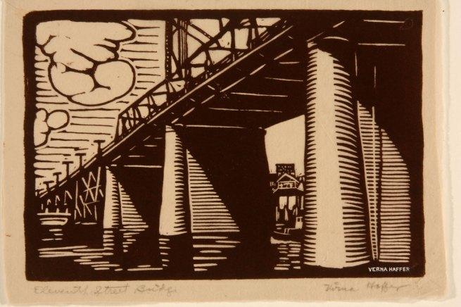 Virna Haffer. 'Eleventh Street Bridge' c. 1930s