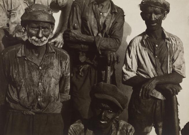 Walker Evans (American, 1903-1975) 'Coal Dockworkers, Havana' 1933